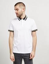 Michael Kors Stripe Collar Short Sleeve Polo Shirt