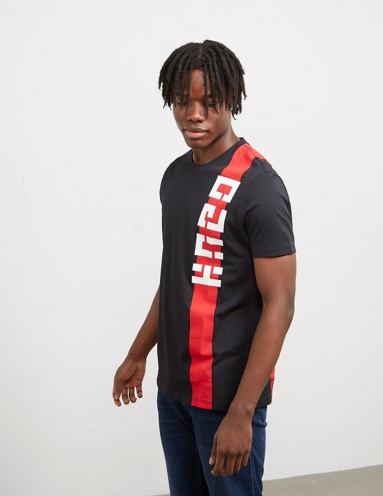 HUGO Logo Stripe Short Sleeve T-Shirt