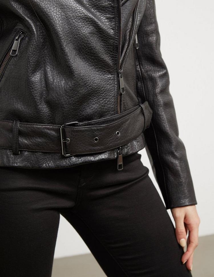BOSS Leather Biker Jacket