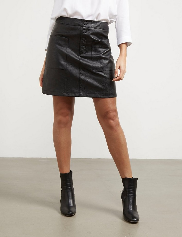 BOSS Faux Leather Skirt