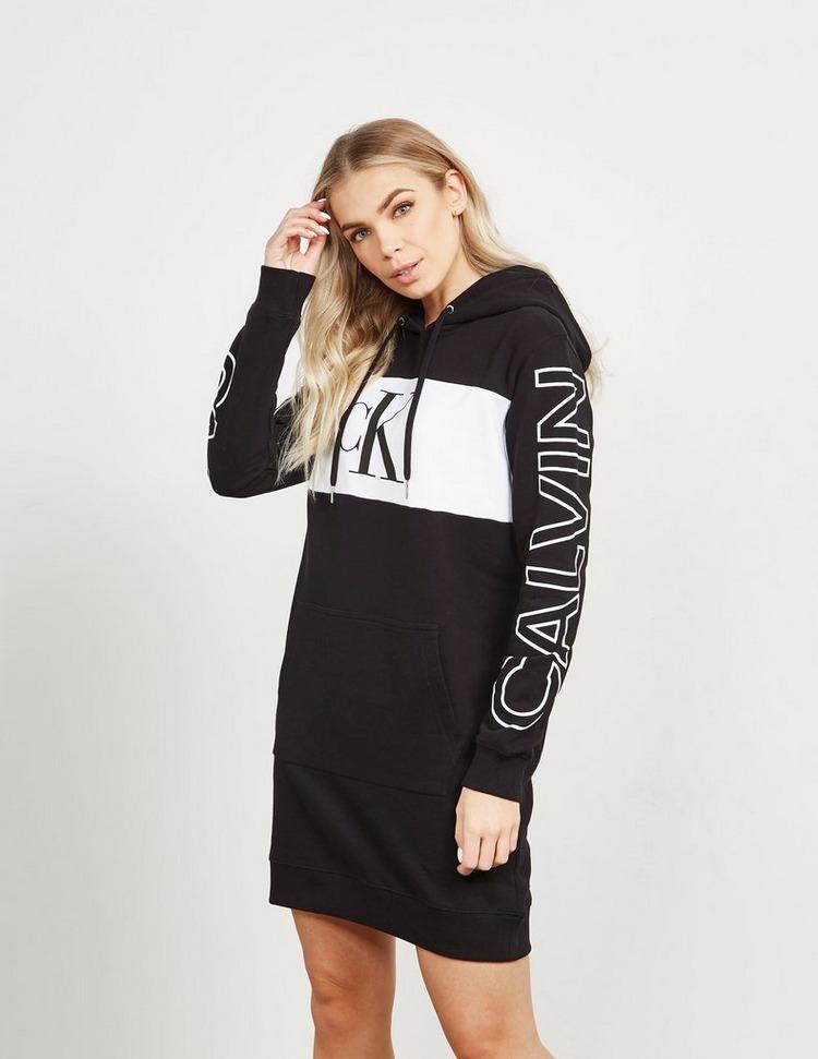 Calvin Klein Jeans Block Logo Hoodie Dress