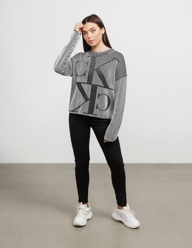 Calvin Klein Jeans Mirror Logo Knit Jumper