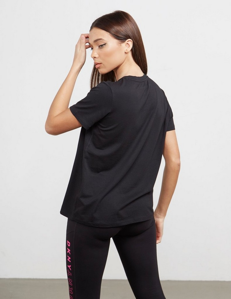 DKNY Sport Stripe Logo Short Sleeve T-Shirt