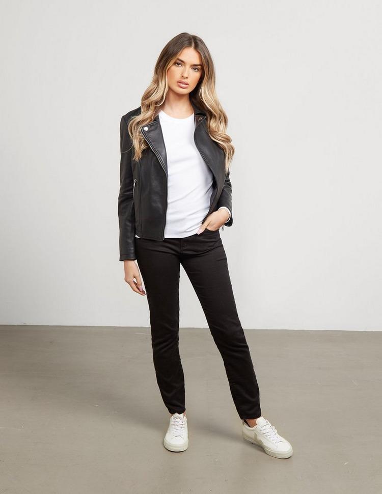 Emporio Armani Zip Leather Jacket