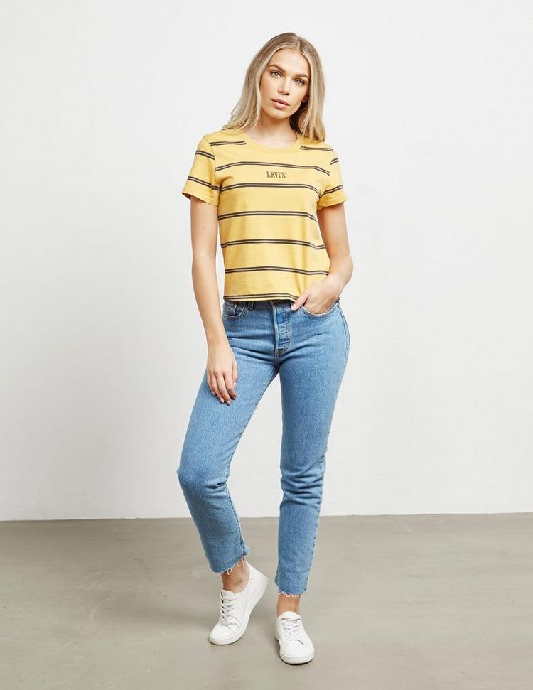 Levis Stripe Crop Short Sleeve T-Shirt