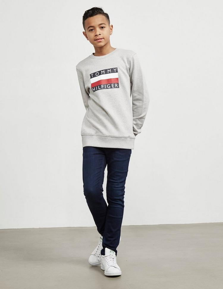 Tommy Hilfiger Essential Large Logo Crew Sweatshirt Junior