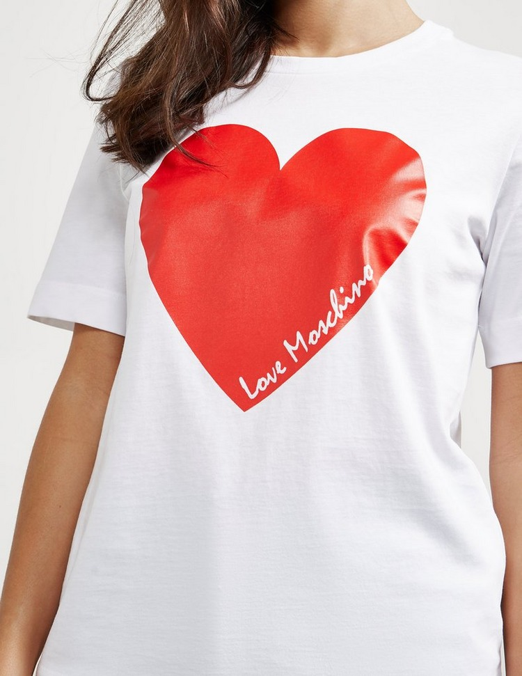 Love Moschino Signature Heart Short Sleeve T-Shirt