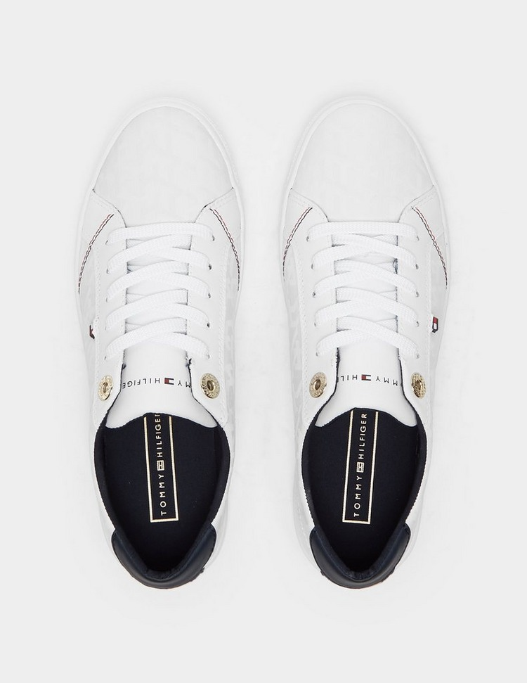 Tommy Hilfiger Jacquard Leather Trainers