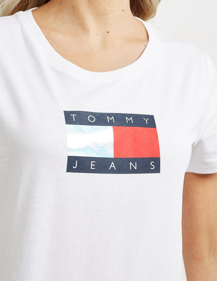 Tommy Jeans Metallic Flag Short Sleeve T-Shirt