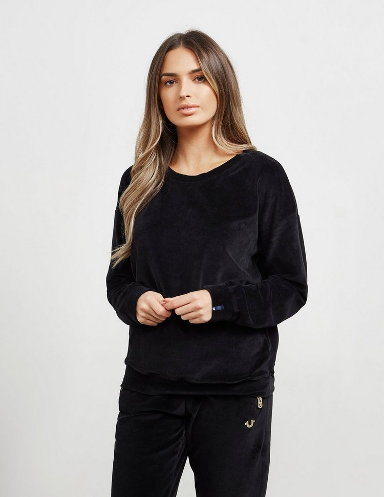 True Religion Velvet Crew Neck Sweatshirt