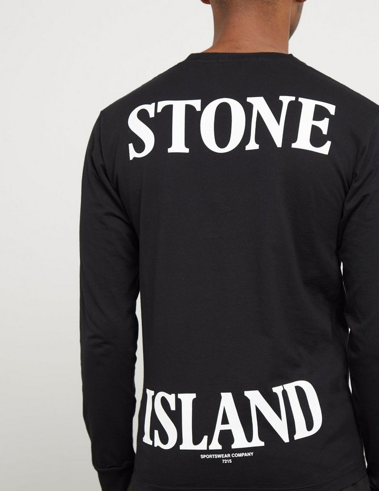 Stone Island Split Logo Long Sleeve T-Shirt