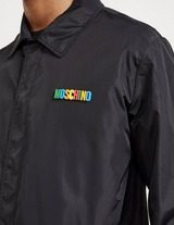 Moschino Rubber Letter Coach Jacket