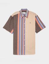 Vivienne Westwood Vertical Multicoloured Short Sleeve Shirt