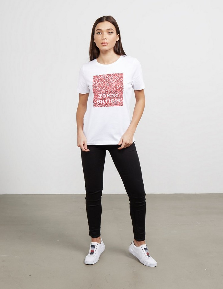 Tommy Hilfiger Floral Square Short Sleeve T-Shirt