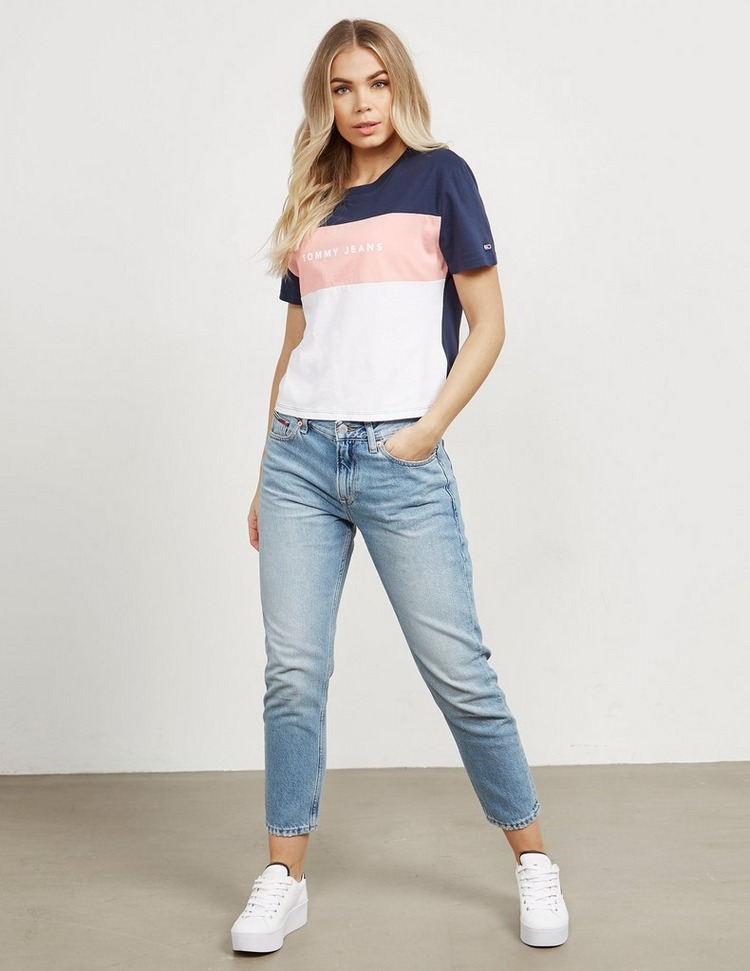 Tommy Jeans Colour Block Short Sleeve T-Shirt