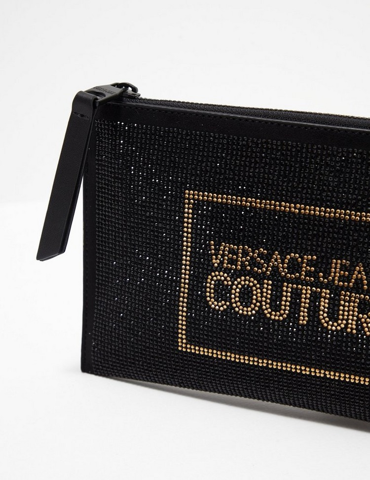 Versace Jeans Couture Sequin Logo Clutch Bag