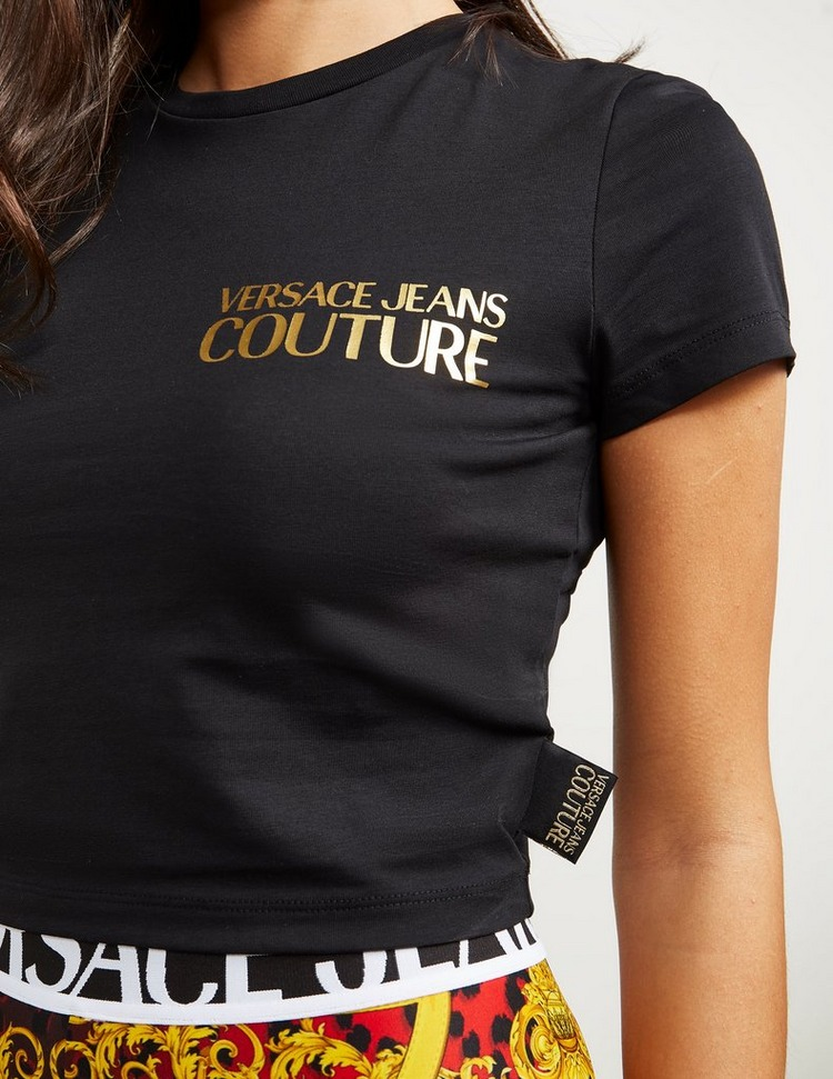 Versace Jeans Couture Icon Short Sleeve Crop T-Shirt