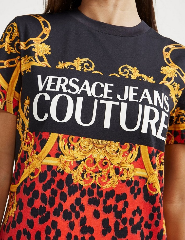 Versace Jeans Couture Leopard Chain Dress