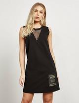 Versace Jeans Couture Patch Net Dress