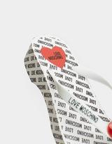 Love Moschino All Over Logo Platform Flip Flop