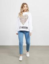 Love Moschino Leopard Heart Sweatshirt