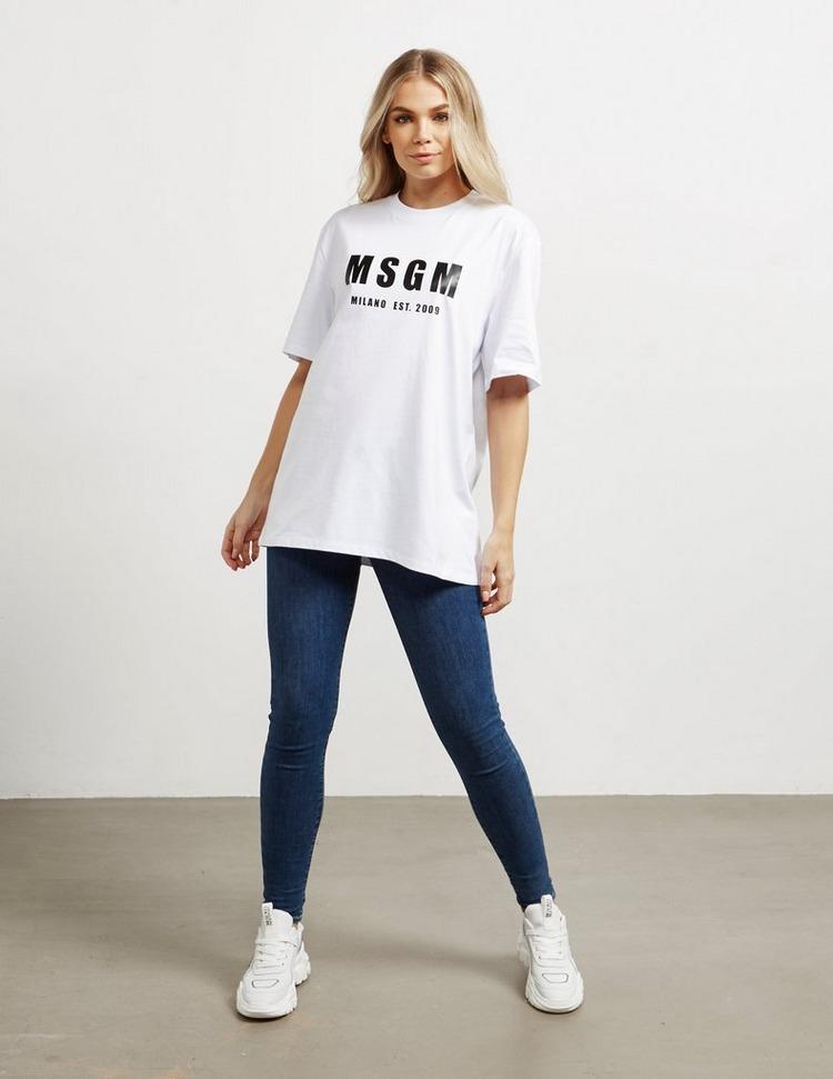MSGM Oversized Logo Short Sleeve T-Shirt