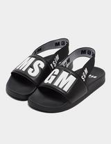 MSGM Elastic Strap Slides