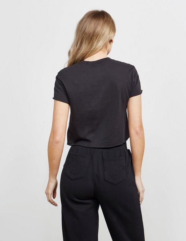 True Religion Monogram Cropped Short Sleeve T-Shirt