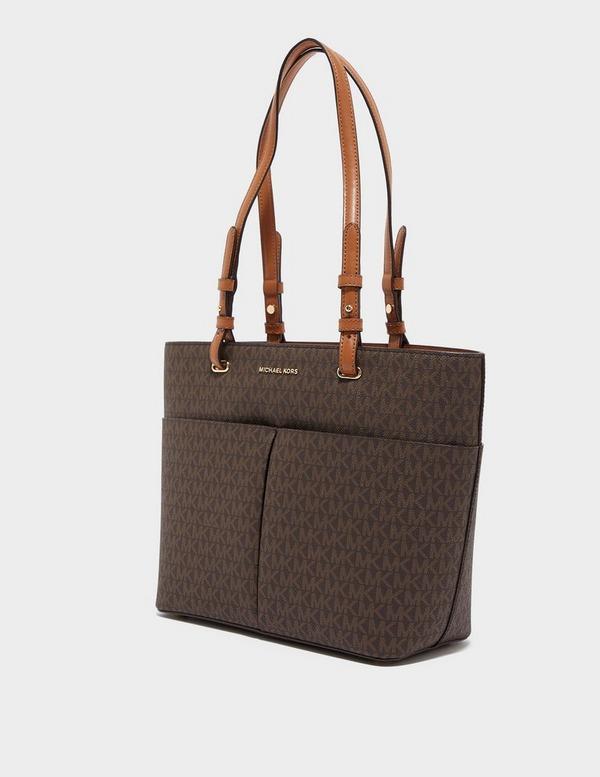 Michael Kors Bedford Pocket Tote Signature Bag