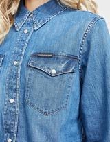 Calvin Klein Jeans Western Long Sleeve Crop Shirt