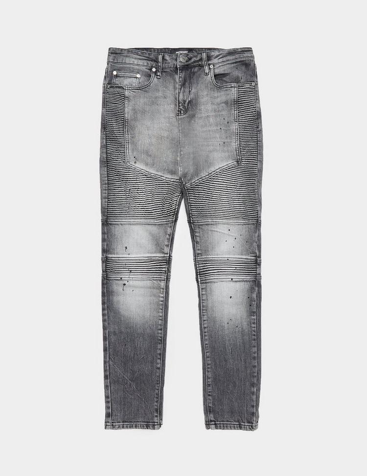 Represent Biker Paint Skinny Jeans - Exclusive