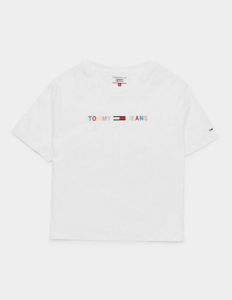 Tommy Jeans Coloured Logo Short Sleeve T-Shirt