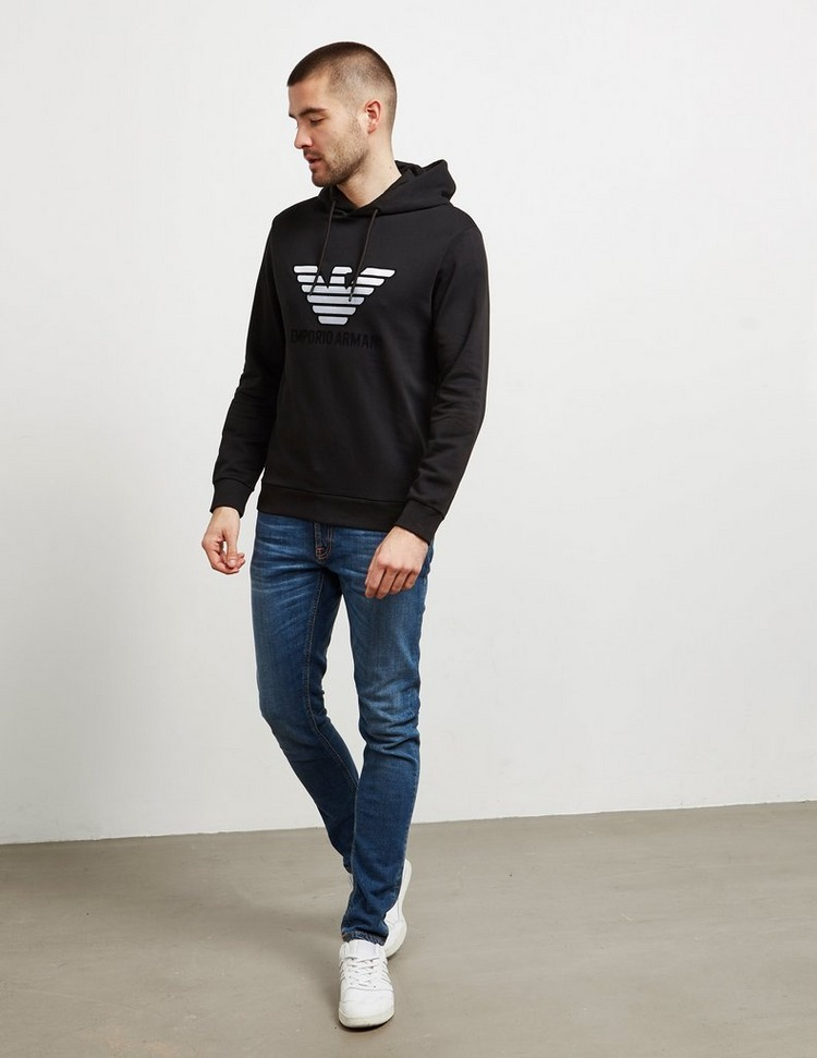 Emporio Armani Reflective Eagle Hoodie