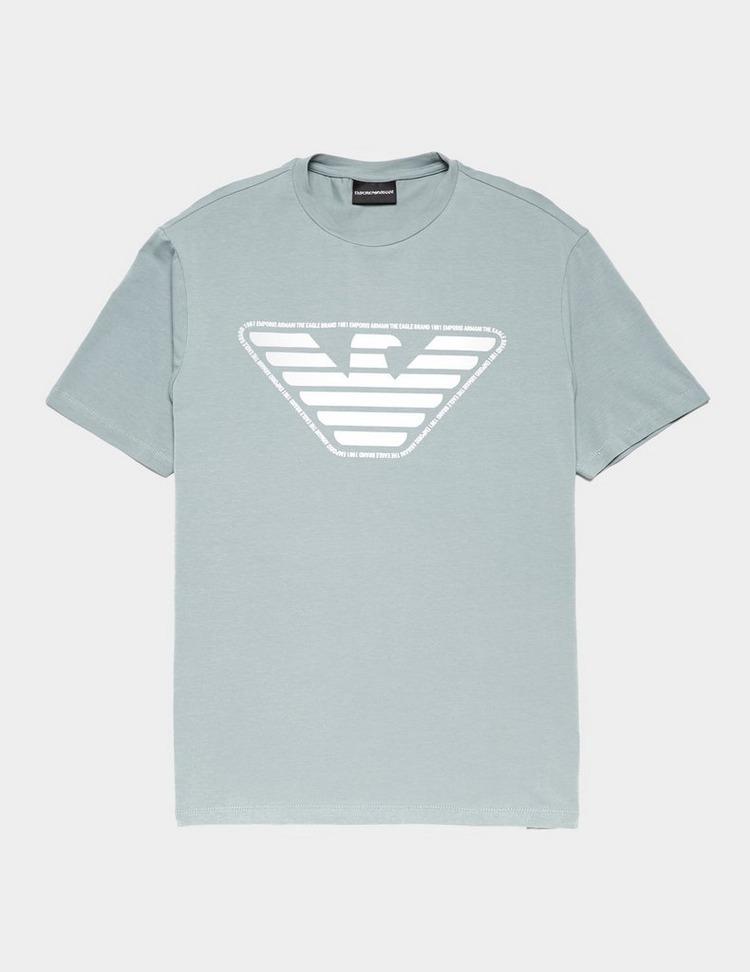 Emporio Armani Text Outline Short Sleeve T-Shirt