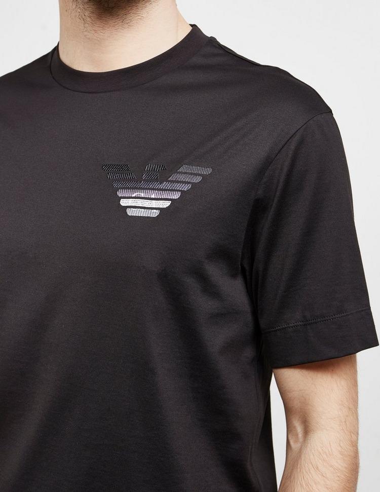 Emporio Armani Embroidered Fade Eagle Short Sleeve T-Shirt