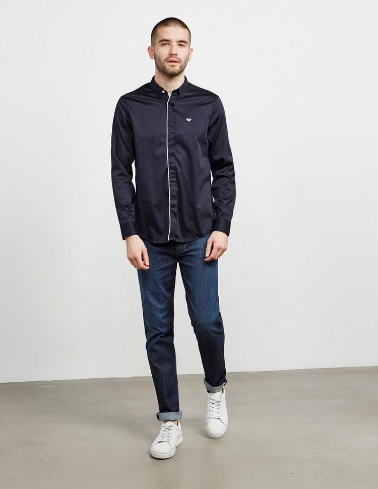 Emporio Armani Tip Placket Long Sleeve Shirt