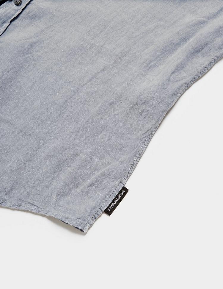 Emporio Armani Linen Short Sleeve Shirt