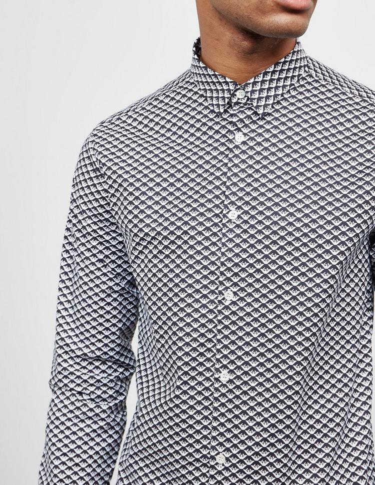 Emporio Armani Eagle Print Long Sleeve Slim Shirt
