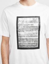 Emporio Armani Painted Logo Short Sleeve T-Shirt