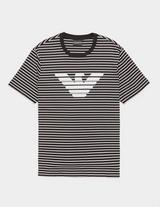 Emporio Armani Stripe Eagle Short Sleeve T-Shirt