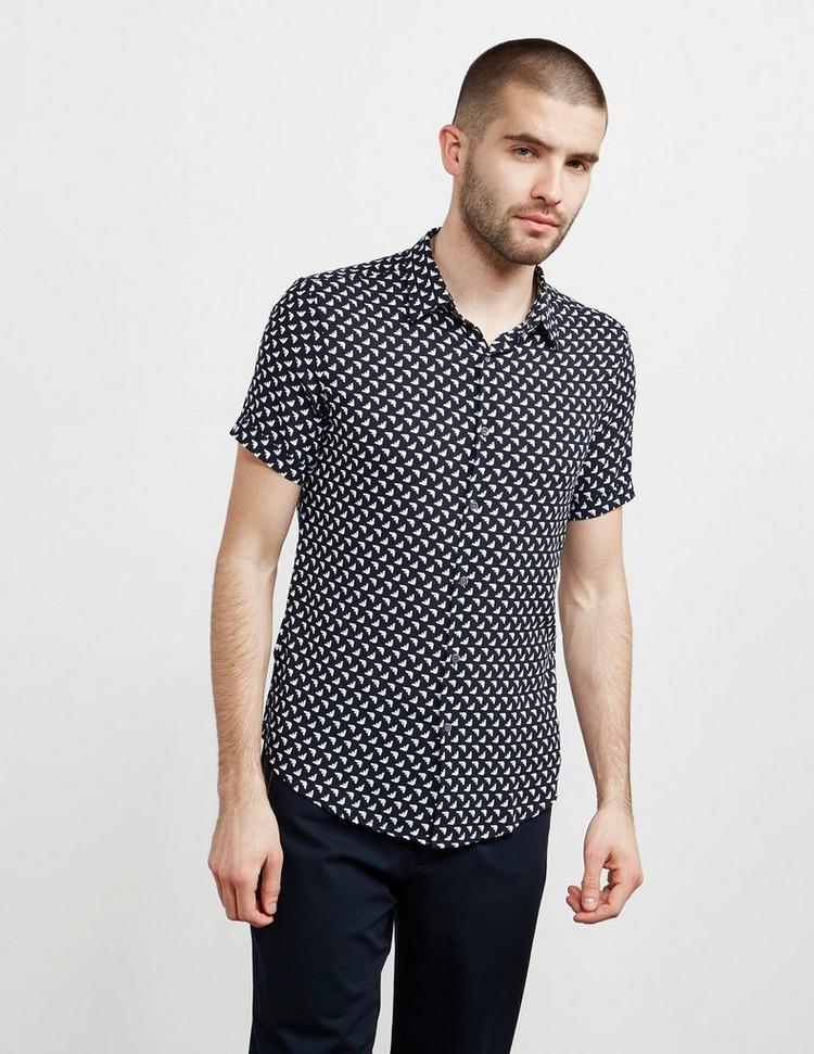 Emporio Armani All Over Print Short Sleeve Jersey Shirt