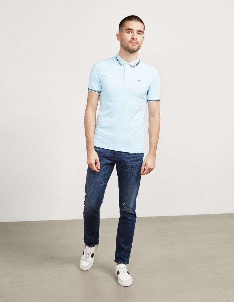 Emporio Armani Basic Tipped Short Sleeve Polo Shirt
