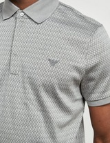 Emporio Armani Intarzia Short Sleeve Polo Shirt