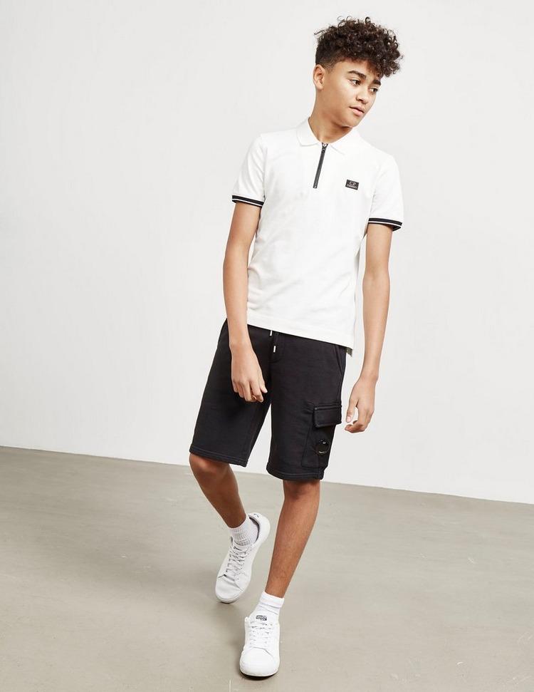CP Company Zip Short Sleeve Polo Shirt