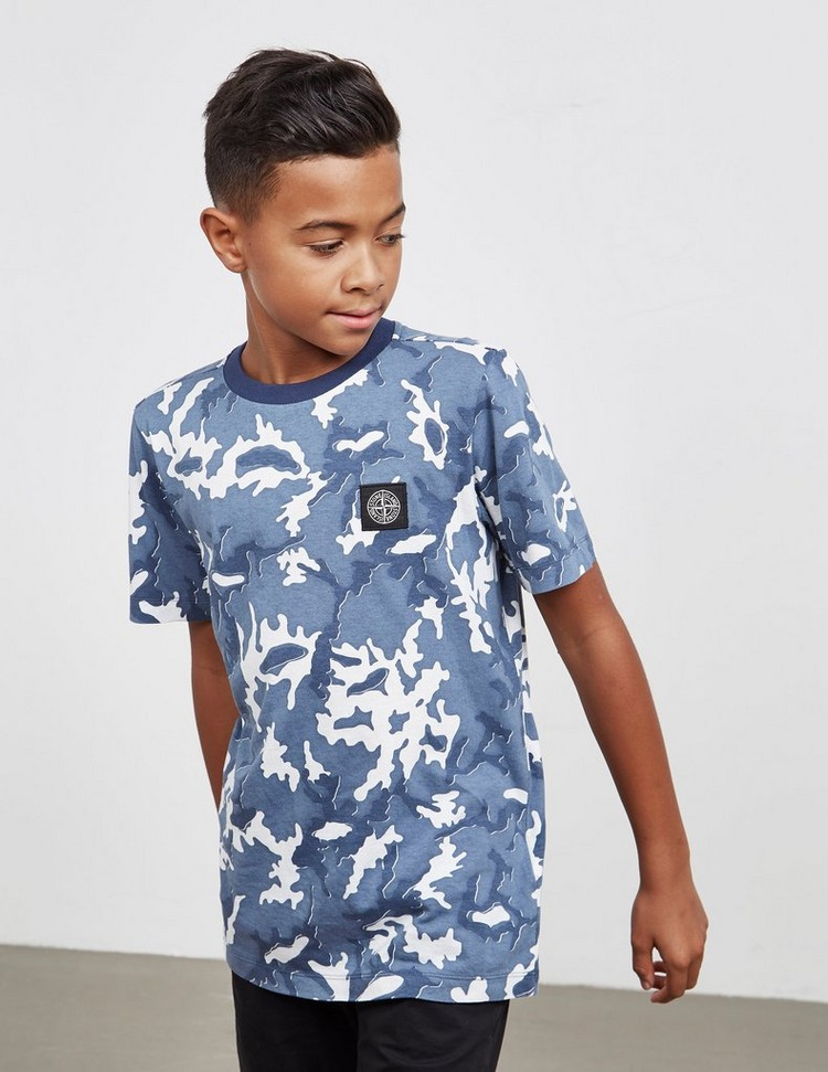 Stone Island Junior Camouflage Short Sleeve T-Shirt