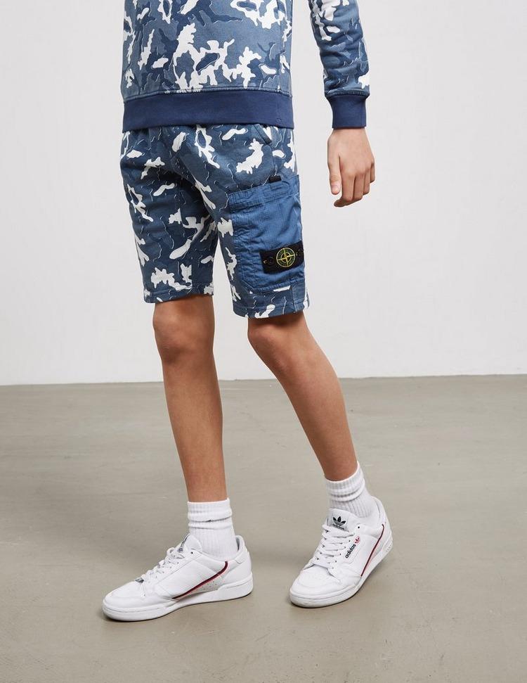 Stone Island Junior Camouflage Shorts