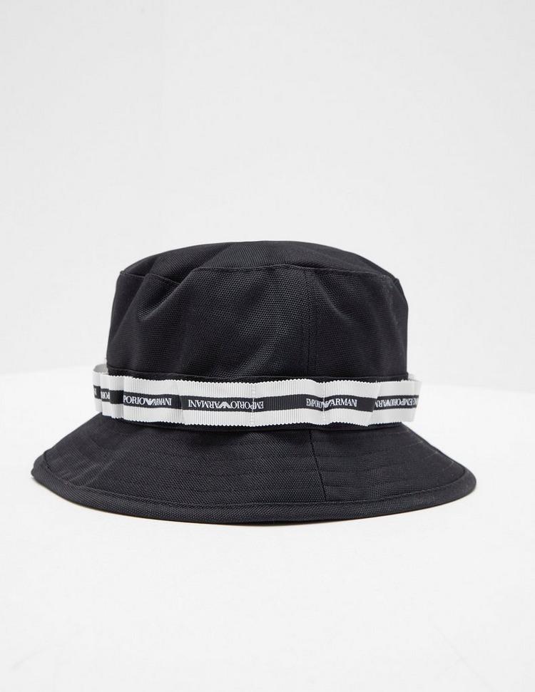 Emporio Armani Tape Logo Bucket Hat