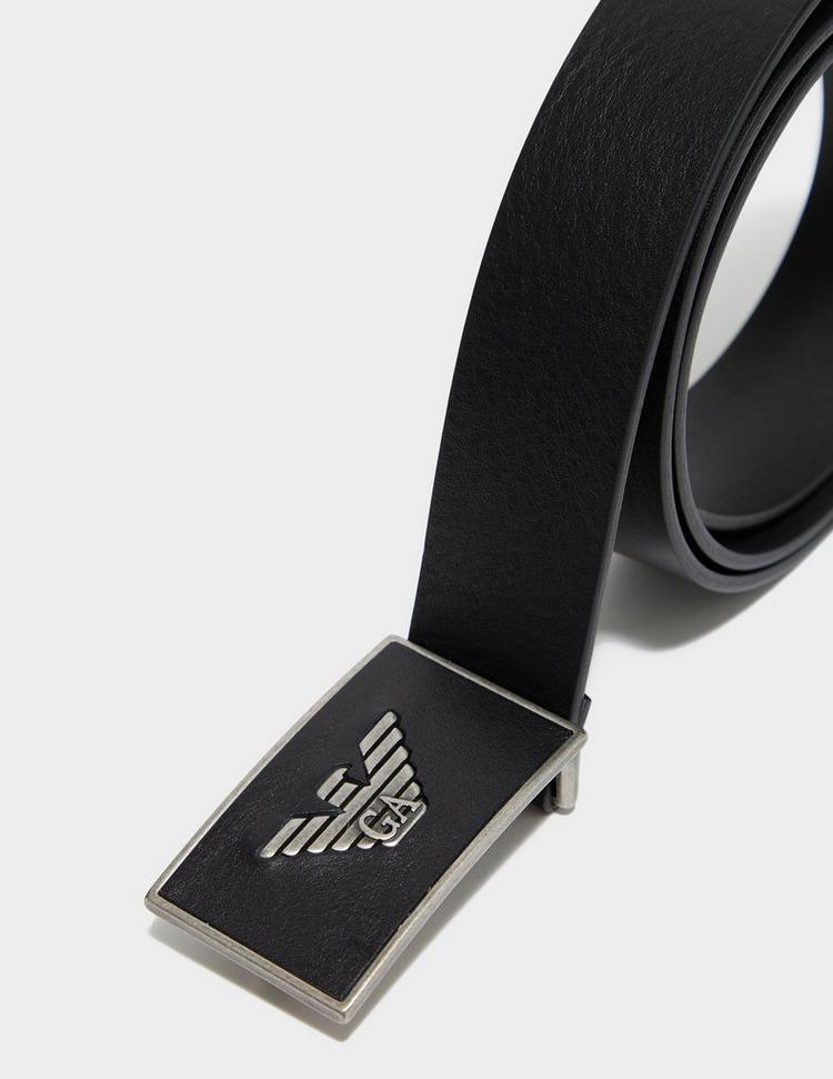 Emporio Armani Plaque Logo Belt