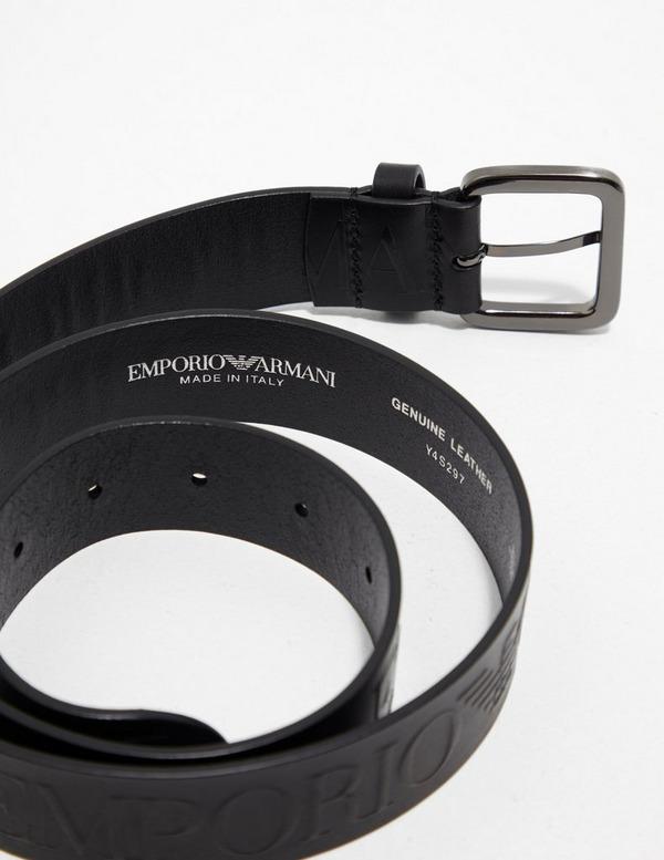 Emporio Armani All Over Letter Belt