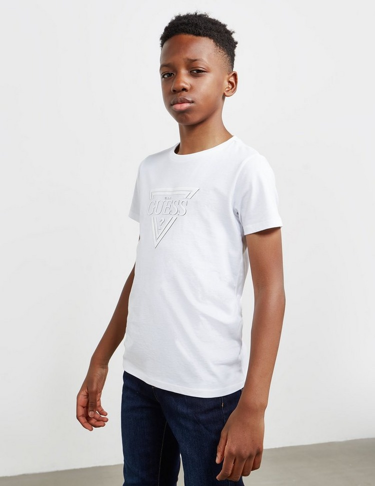 Guess Embossed Logo Short Sleeve T-Shirt